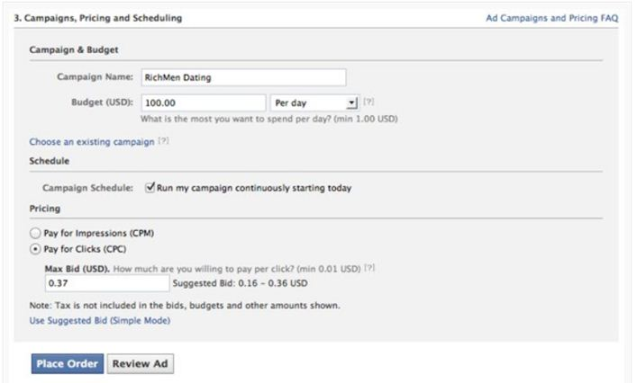 How to Set Up a Facebook Ads Campaign - Place your order