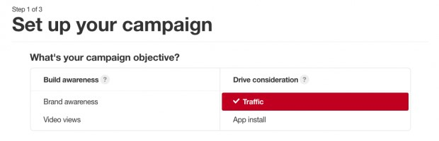 How to Promote on Pinterest - Choose Campaign Objective
