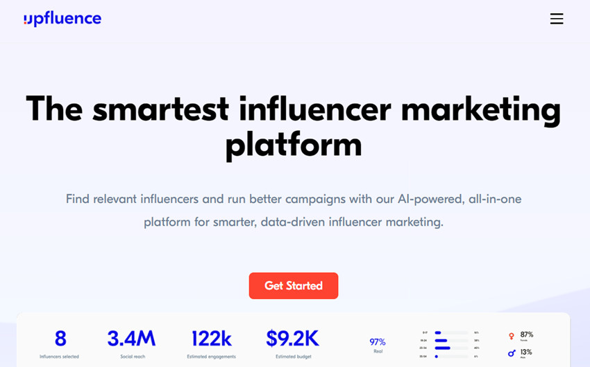 Best Online Influencer Outreach Agency - Upfluence