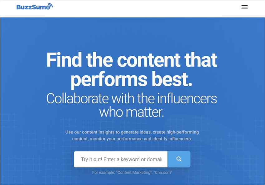 Best Online Influencer Outreach Agency - BuzzSumo