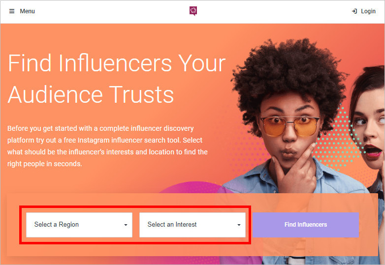 How to Contact Media Influencers - Select Region and Ineterest