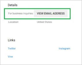 Contact YouTubers for Business - Check the influencer's email address