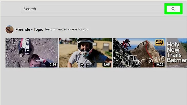 How to Find Contacts on YouTube - Open YouTube