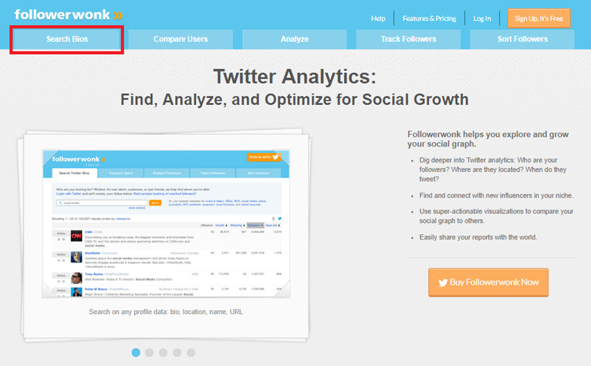 All Ways to Find Twitter Influencers - Click Search Bios