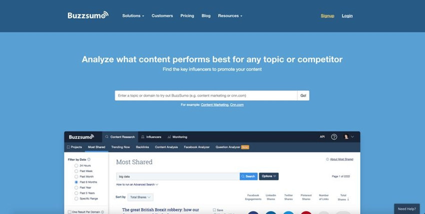 Most Helpful Email Collaboration Tools - BuzzSumo