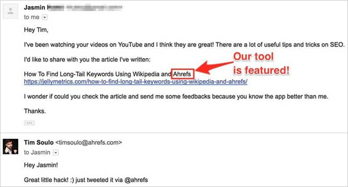 How to Contact YouTube Vloggers - Template about featured content