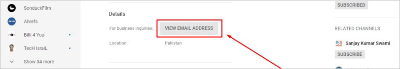 How to Contact YouTube Vloggers - View the email address