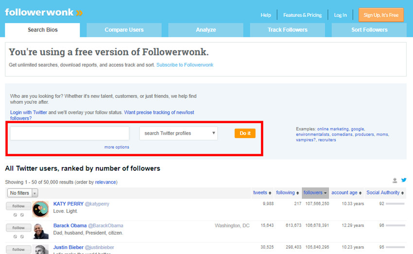 How to Look for Twitter Influencer Rating - Search Keywords Related to Niche