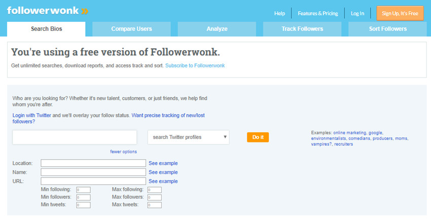 How to Look for Twitter Influencer Rating - Specify Your Search by Adding Filters
