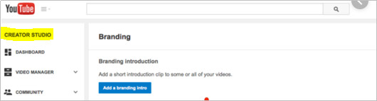 How to Monetize YouTube Videos - Select CREATOR STUDIO Icon