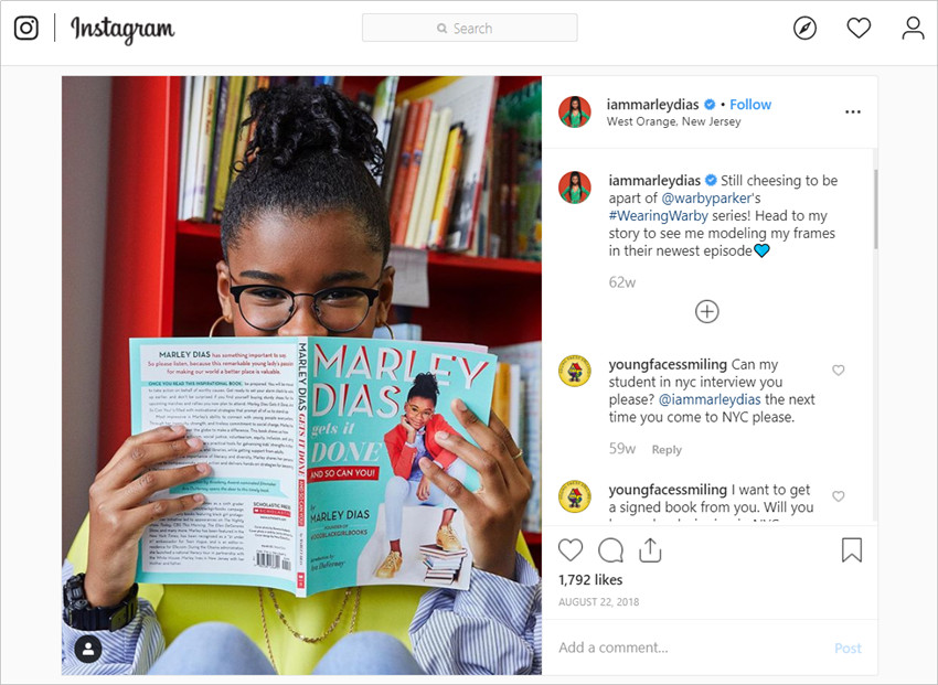 Best Influencer Outreach Case Studies - Wearing Warby Campaign
