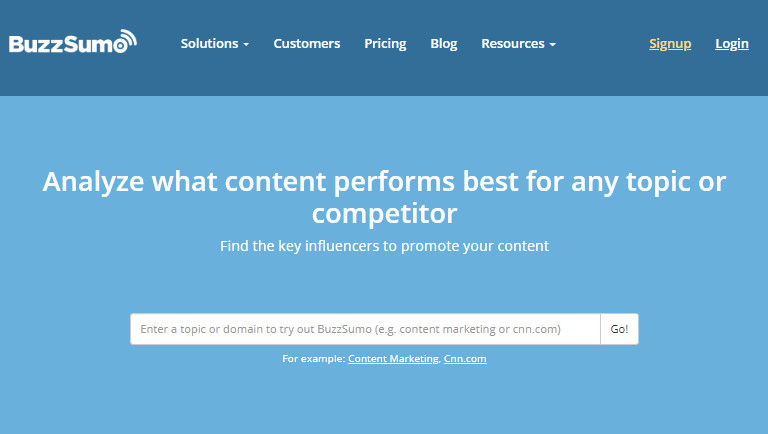 Most Helpful Influencer Searching Engine - Buzzsumo