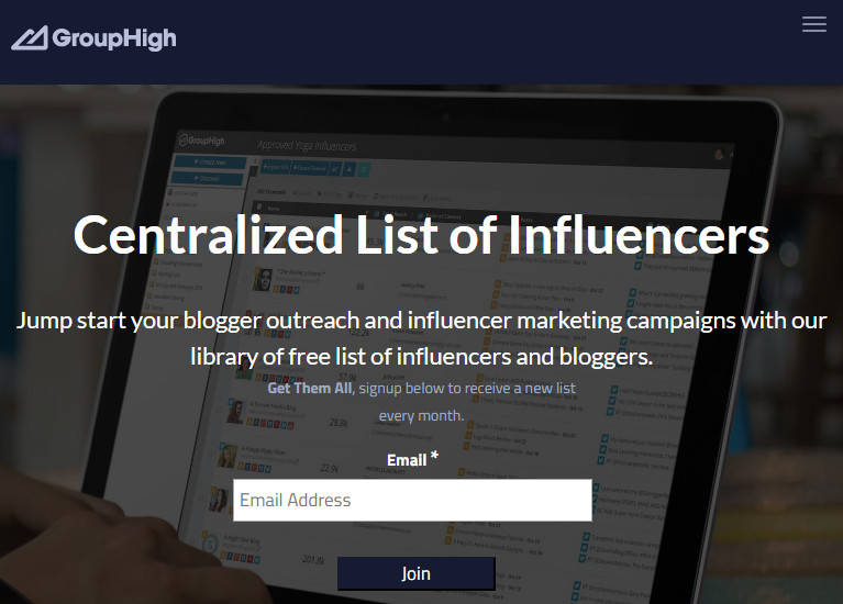 Most Helpful Influencer Searching Engine - GroupHigh
