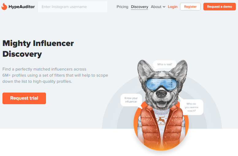 Most Helpful Influencer Searching Engine - HypeAuditor