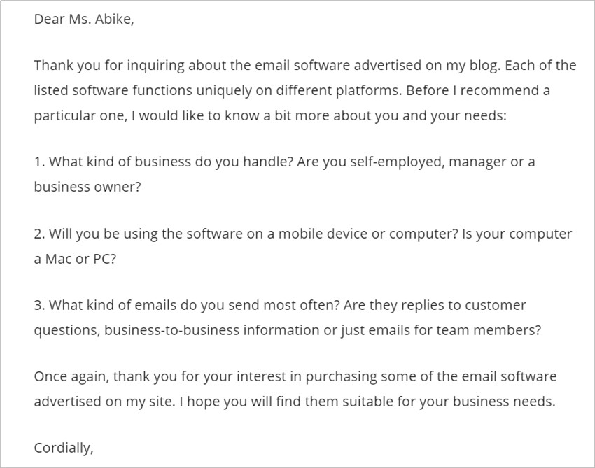 Reply to a Collaboration Email with Tips & Tricks - Request Information