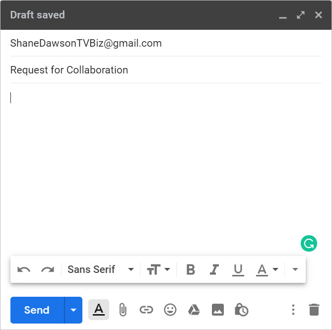 How to Request for Collaboration in Email  - Compose Collaboration Request