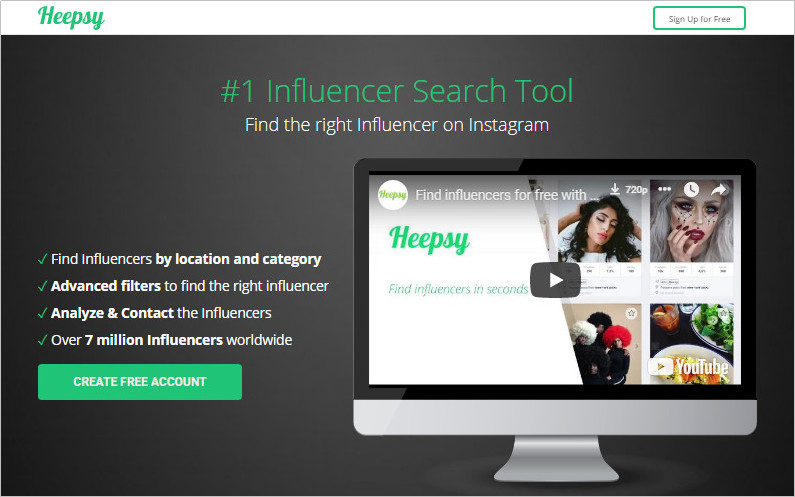How Sales Contact Influencers for Promotion - Create and Account with Heepsy