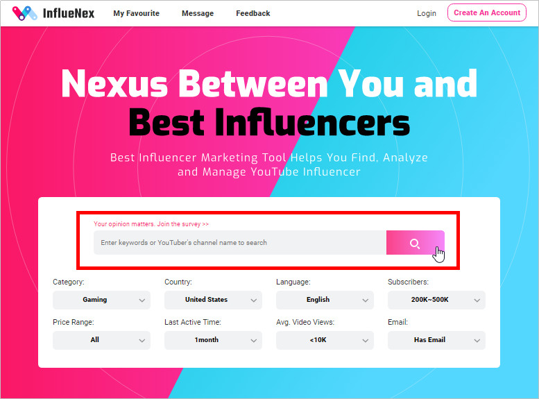Triber Influencer Review and Its Best Alternatives - Keyword Search