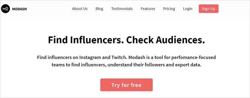 Twitch Influencer Outreach - Modash