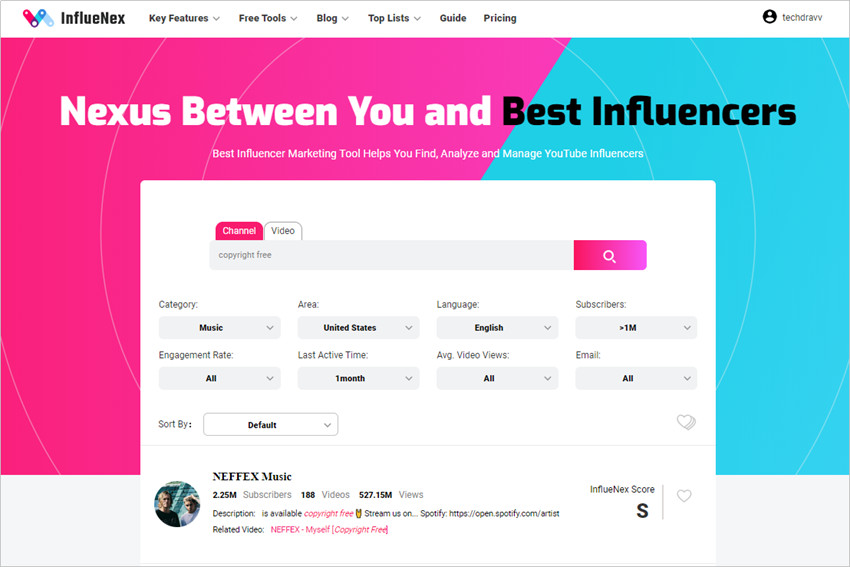 The Ultimate Influencer Outreach Guide - CHoose Influencer from Results