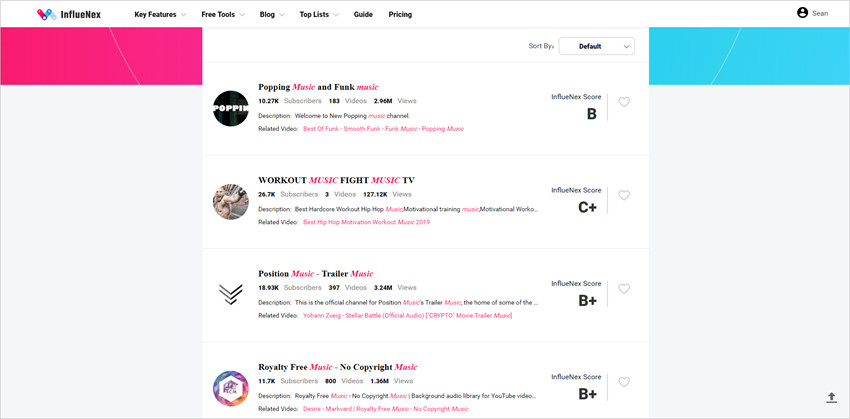 Useful Micro Influencers Platforms - View Searching Results
