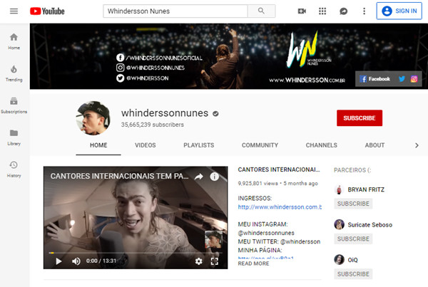 Top Social Media Influencers - Whindersson Nunes