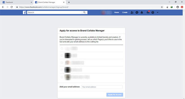 All Ways to Find Influencers - Apply for access to Brand Collabs Manager