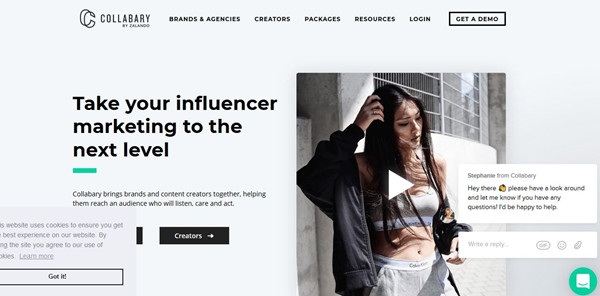 Influencer Network Service - Collabary