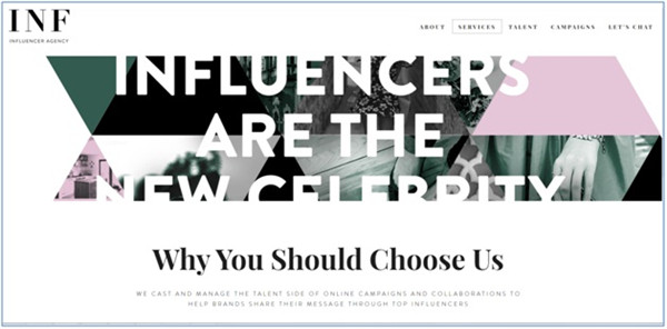 Social Media Influencer Agencies - INF Influencers Agency